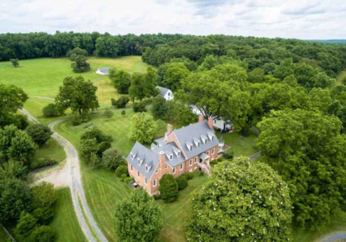Aerial View of a Historical Estate